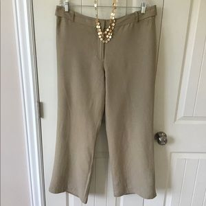 Ann Taylor Career Linen Blend Pants Size 14
